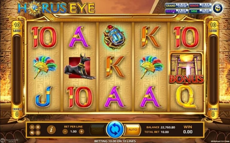 horus eye slot